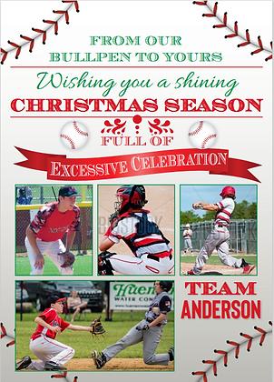 """Holiday Card_MultiPhoto_5""""x7"""" - (Pack of 20)"""