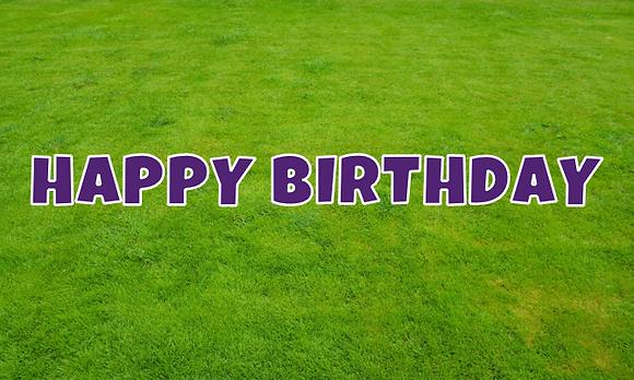 HAPPY BIRTHDAY Letter Set - Deep Purple