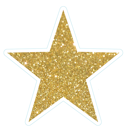 Star (Sharp Edge): Gold Glitter