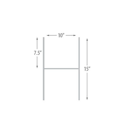 """10""""x15"""" H Stakes - 50 pieces per pack"""