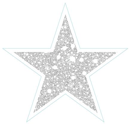 Star (Sharp Edge): White Sparkle