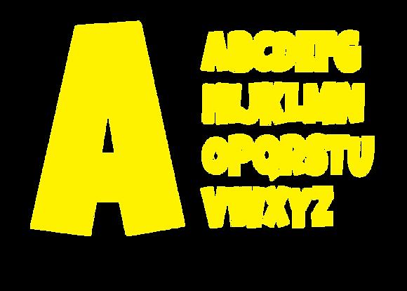Alphabet - Yellow