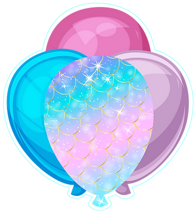 Balloon Cluster: Mermaid