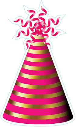 Party Hat: Pink & Gold