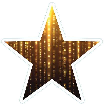 Star (Sharp Edge): Black & Gold Drizzle