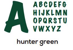 Alphabet - Hunter Green