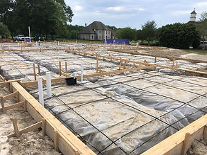 large residential foundation before the concrete is poured