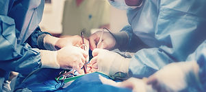 Medical team of surgeons in hospital doi