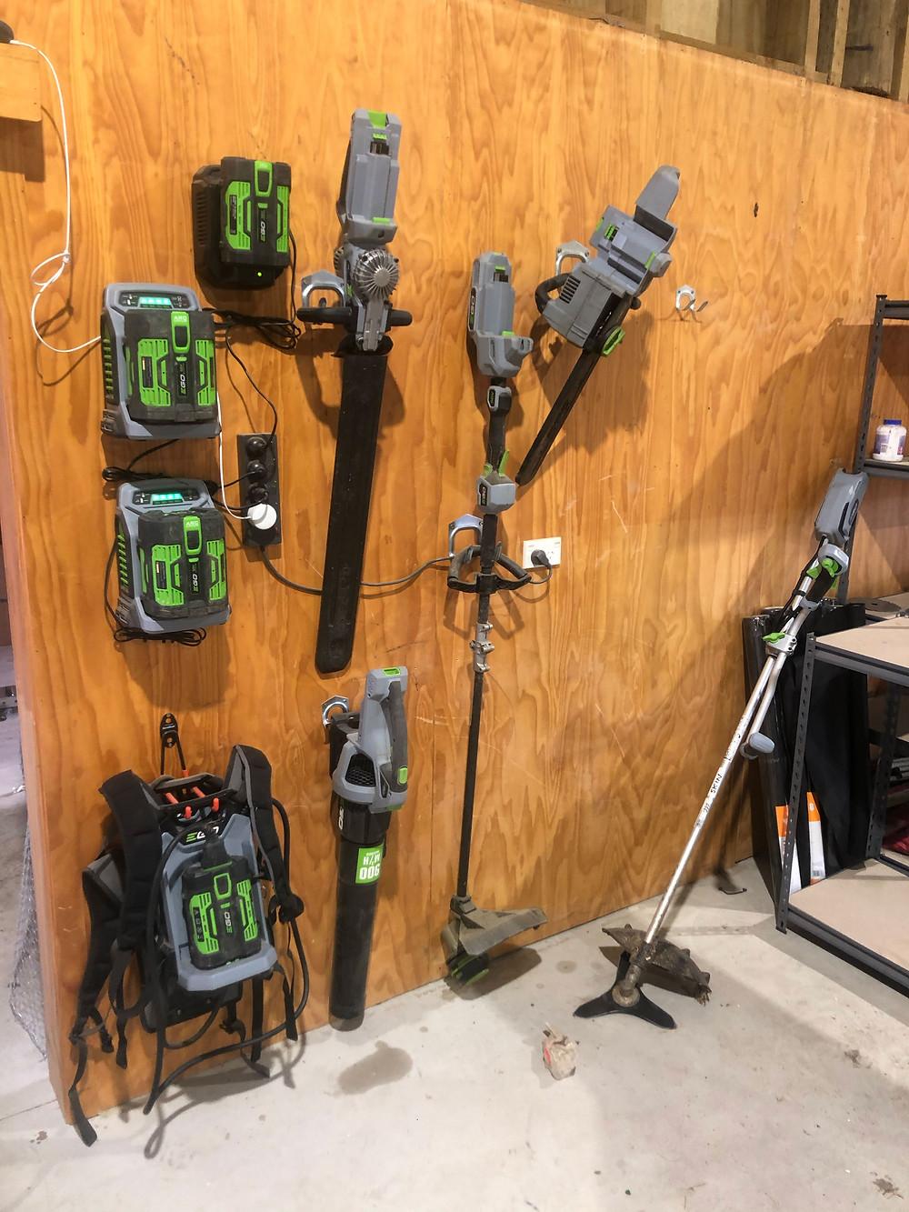 Ego electric gardening tools