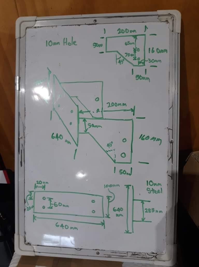 Our mounting bracket design for the boom