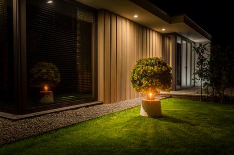 Eline Design buitenverlichting bij nacht