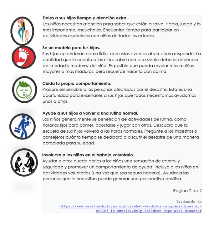 10vconsejos para sobrellevar desastres p