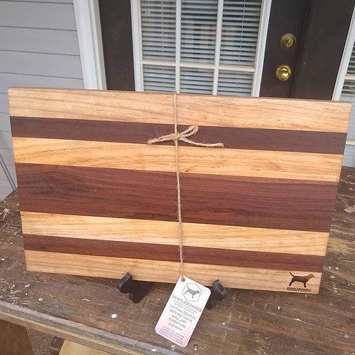 """11x17.5"""" Cutting Board - Walnut and Maple"""