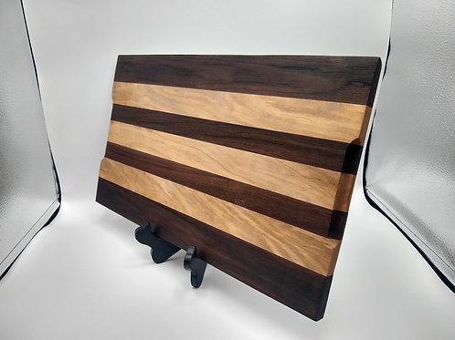 """10x17.5"""" Cutting Board - Walnut and Maple"""