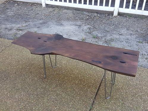 Charred Cedar Coffee Table #1 (Custom Legs and Bases Available)