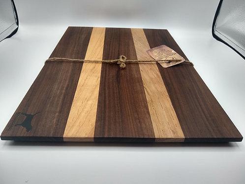 """11x20"""" Cutting Board - Walnut and Maple"""