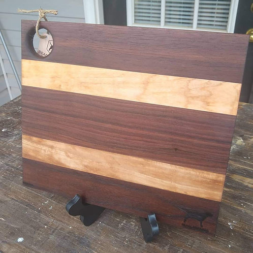 """10x11.5"""" Cutting Board - Walnut and Maple"""