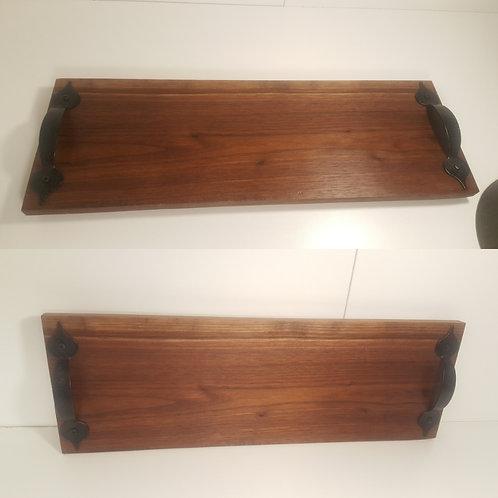"""15"""" Black Walnut Cutting Board w/ Handles"""