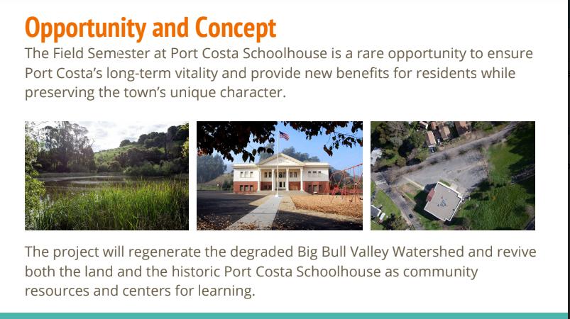 The Field Semester Port Costa