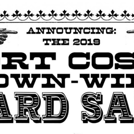 May 25, 2019 Port Costa Town-Wide Yard Sale, 9am