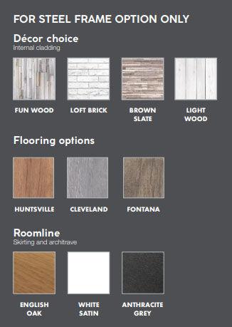 Garden Rooms internal finish options