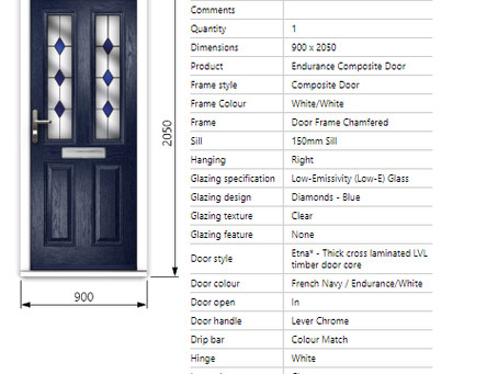 Composite Door Specification