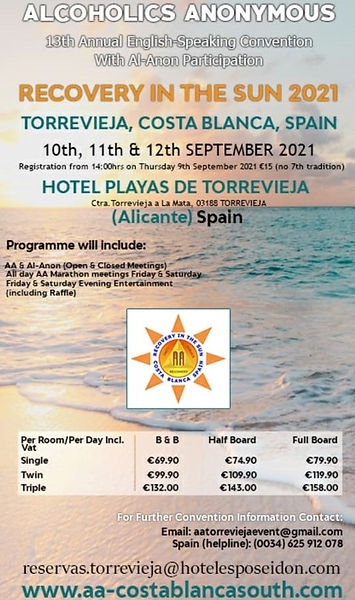 AA Costa Blanca South 2021 Convention