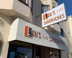 LOU'S CAFE NEW SIGN