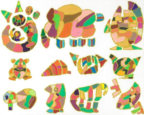 InspirationシリーズPaint.33  220×273 アクリル・ペン・キャンバス