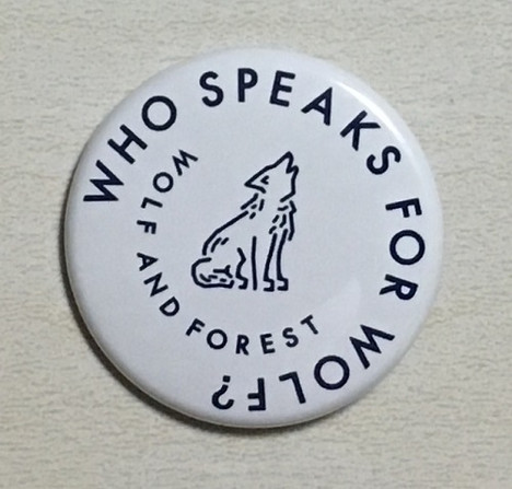 Who speaks for Wolf ? 缶バッヂ