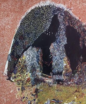 オオアリクイ  727×606 ペンアクリル・キャンバス