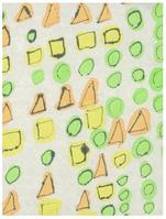 はっぱ  180×140 墨・水彩・和紙・パネル
