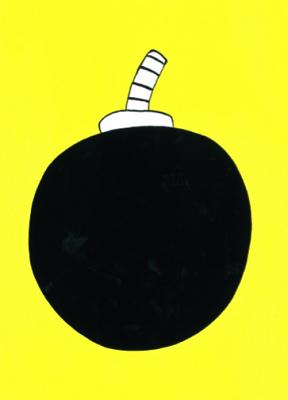 ばくだん  333×242 アクリル・顔料マーカー・キャンバス