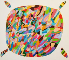 InspirationシリーズPaint.35  455×530 アクリル・ペン・キャンバス