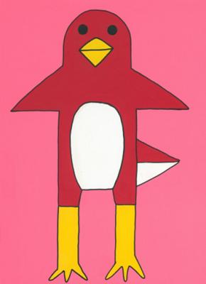 ペンギン  410×318 アクリル・顔料マーカー・キャンバス
