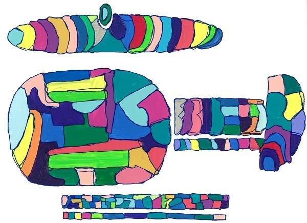 InspirationシリーズPaint.2  244×333 アクリル・ペン・キャンバス