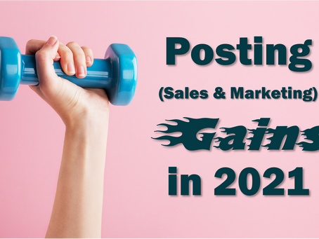 Posting Sales & Marketing Gains for 2021