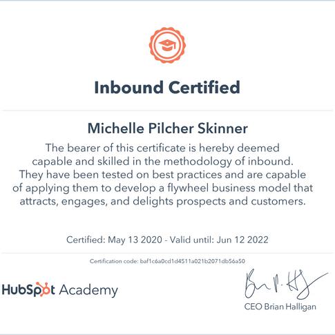 Michelle Skinner Inbound Certificate.png