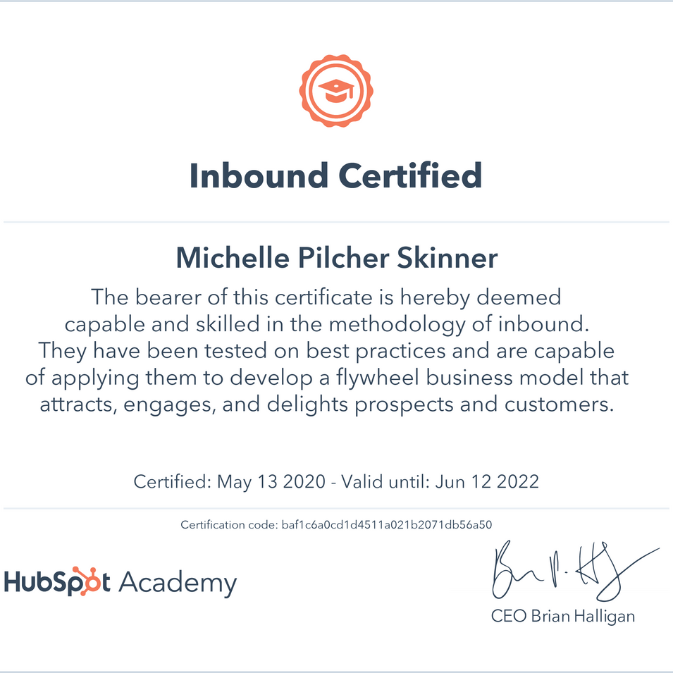 Michelle Skinner Inbound Certificate.png