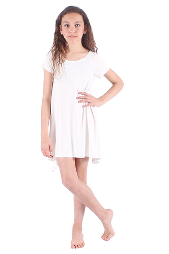 White Comfy Swing Dress