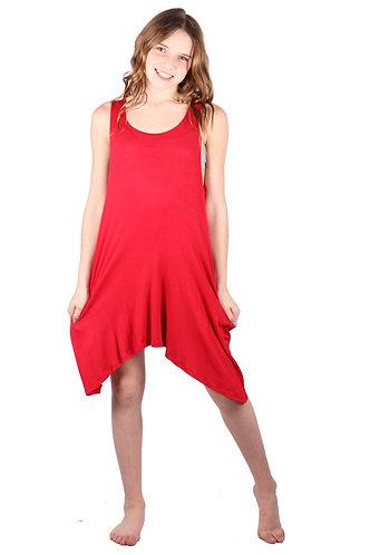 Red Sleeveless Sundress