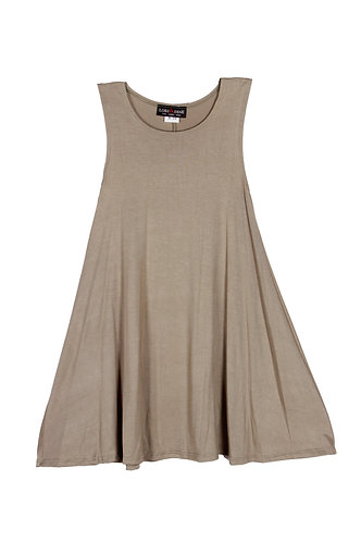 Light olive green Sleeveless Sundress