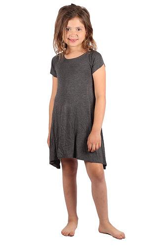 Charcoal Comfy Swing Dress