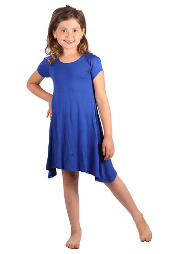 Royal Blue Comfy Swing Dress