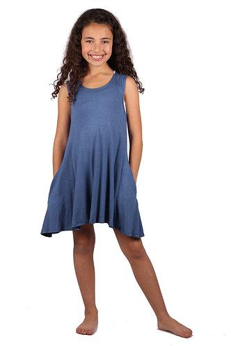 Steal Blue Sleeveless Sundress