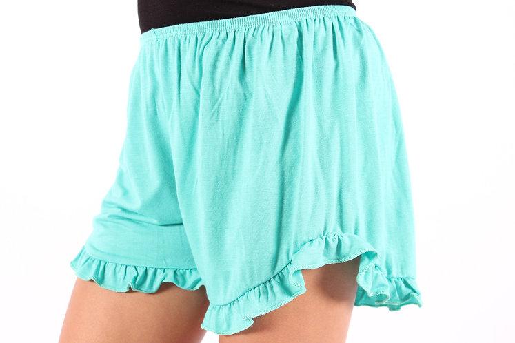 Mint Ruffle Shorts