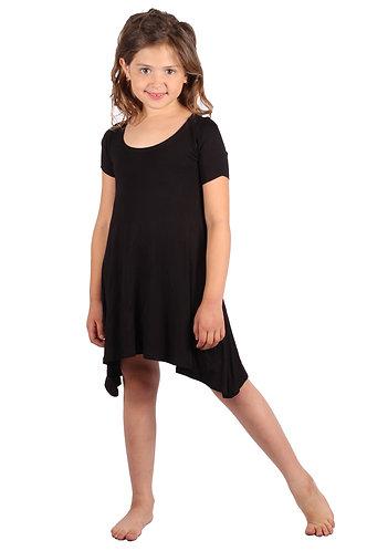 Black Comfy Swing Dress