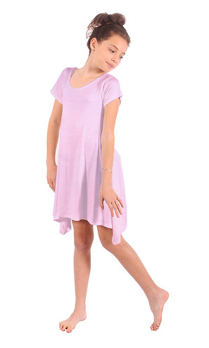 Baby Pink Comfy Swing Dress