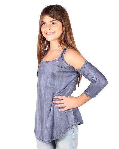 Tie-Dye Cold Shoulder Top
