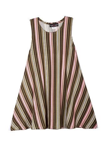 Stripe Sleeveless Sundress